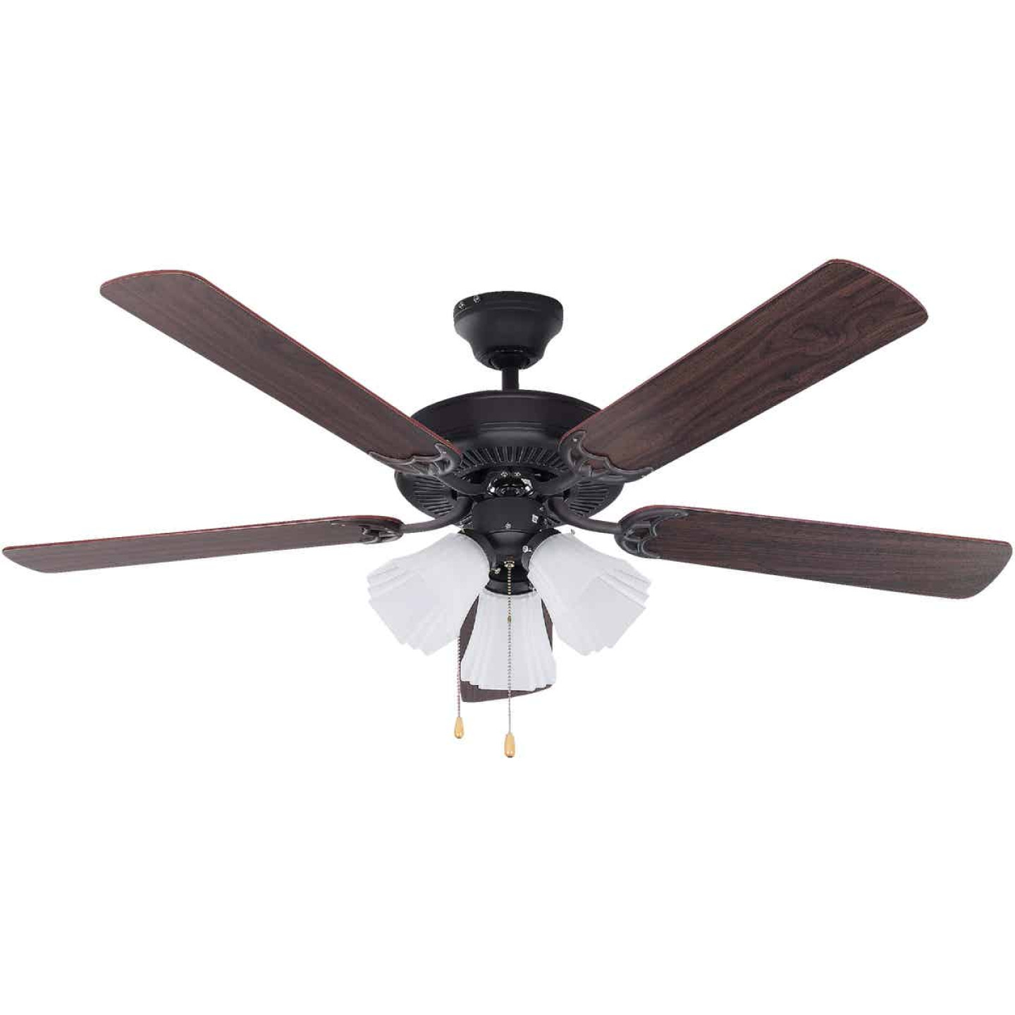 Home Impressions Sherwood 52 In. Oil Rubbed Bronze Ceiling Fan with Light Kit Image 1
