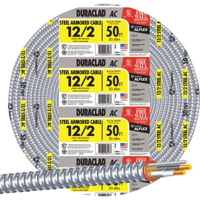 Southwire 50 Ft. 12/2 AC Armored Cable