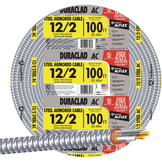 Southwire 100 Ft. 12/2 AC Armored Cable