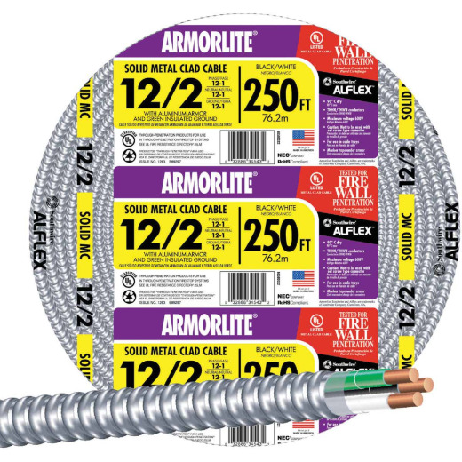 Southwire 250 Ft. 12/2 MC Armored Cable