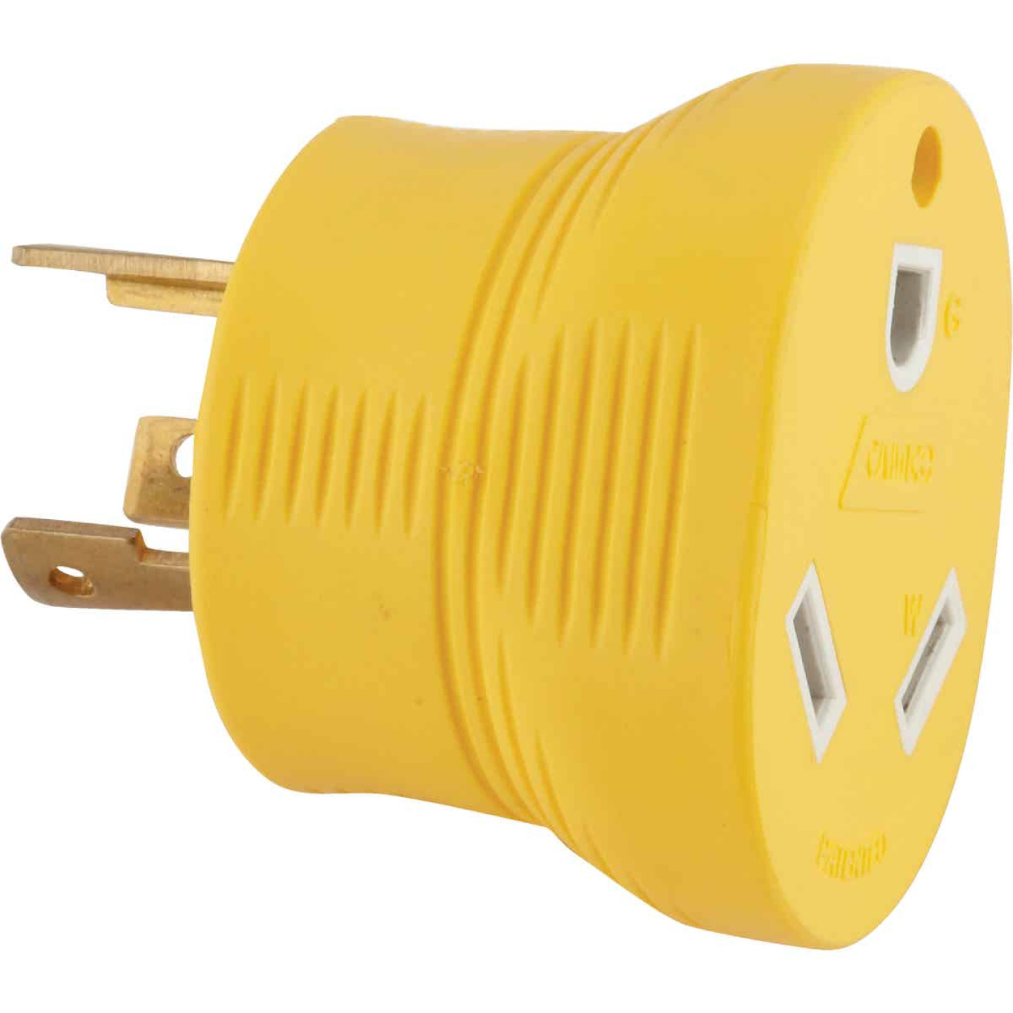 Camco Power Grip 30-Amp 3-Prong RV Generator Adapter Image 1
