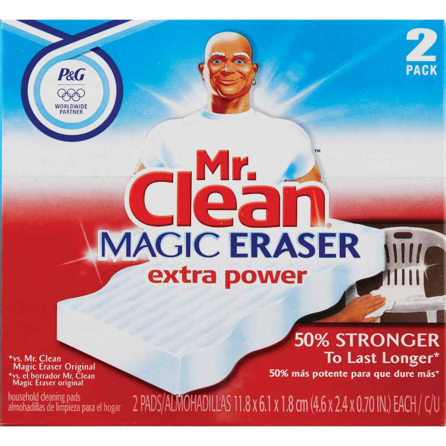 Mr. Clean Magic Eraser Cleansing Pad with Extra Power (2 Count) Image 2