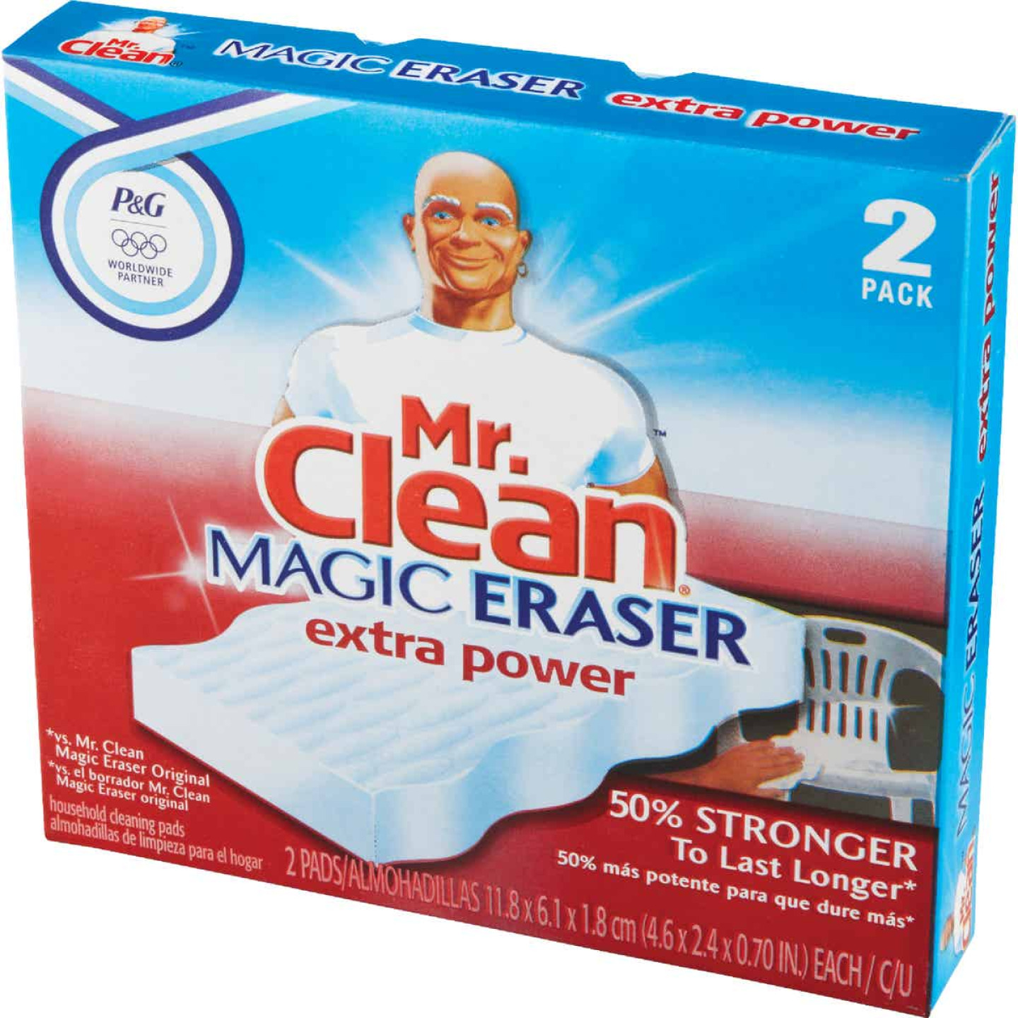 Mr. Clean Magic Eraser Cleansing Pad with Extra Power (2 Count) Image 3