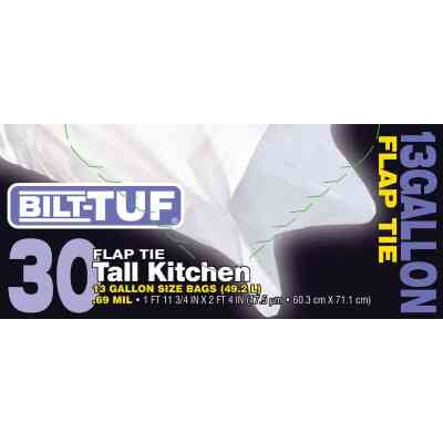 Bilt-Tuf 13 Gal. Tall Kitchen White Trash Bag (30-Count)