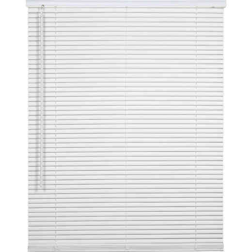 Home Impressions 46 In. x 72 In. x 1 In. White Vinyl Light Filtering Cordless Mini Blind