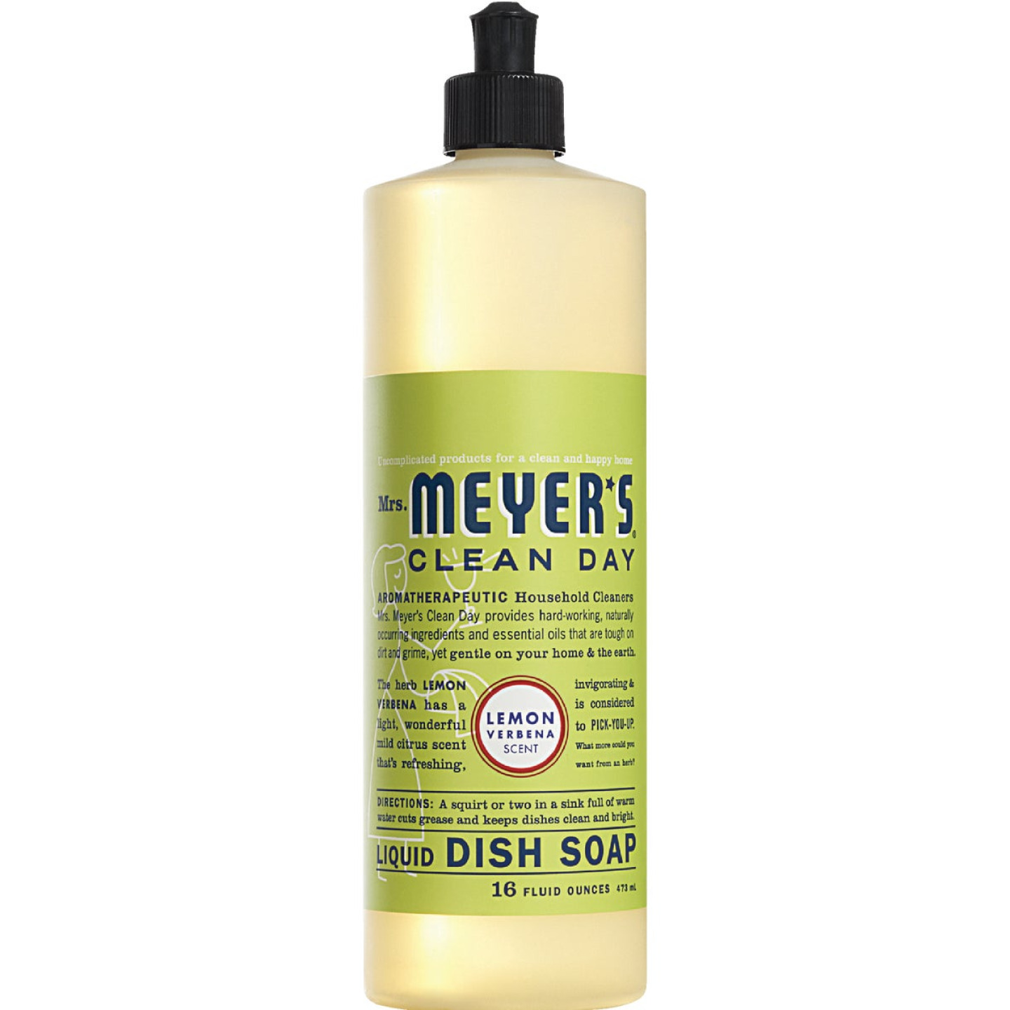 Mrs. Meyer's Clean Day 16 Oz. Lemon Verbena Scent Liquid Dish Soap Image 1