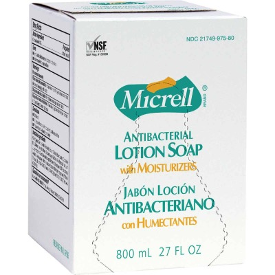 Micrell 800mL Antibacterial Lotion Soap Refill for Micrell Bag-in-Box Dispenser