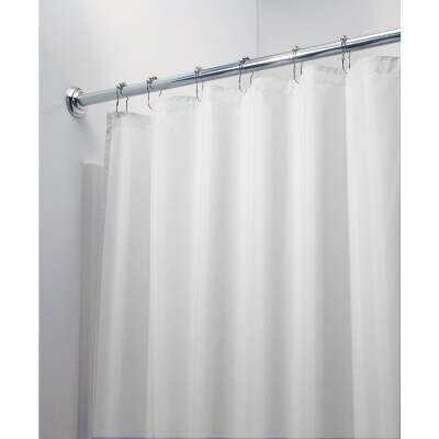 InterDesign 72 In. x 72 In. White Polyester Shower Curtain Liner