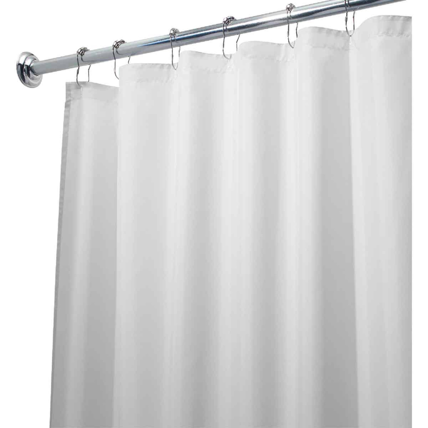 InterDesign 72 In. x 72 In. White Polyester Shower Curtain Liner Image 3