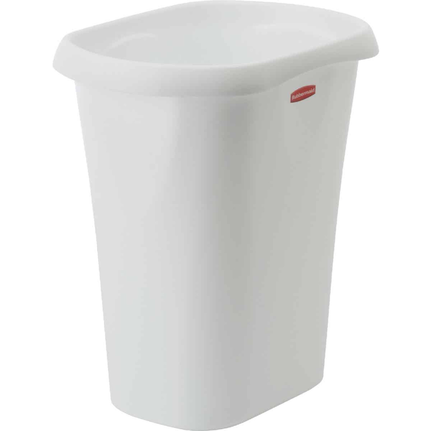 Rubbermaid 12 Qt. White Wastebasket Image 1