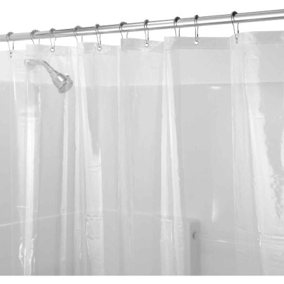 iDesign 72 In. x 72 In. Clear EVA Shower Curtain Liner