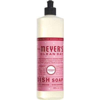 Mrs. Meyer's Clean Day 16 Oz. Peppermint Liquid Dish Soap