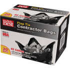 Do it Best 42 Gal. Flap Tie Contractor Black Trash Bag (20-Count) Image 1