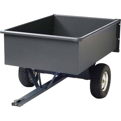 Precision 15 Cu. Ft. 1200 Lb. Steel Tow-Behind Garden Cart