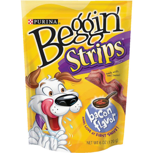 Purina Beggin' Strips Bacon Flavor Chewy Dog Treat, 6 Oz.