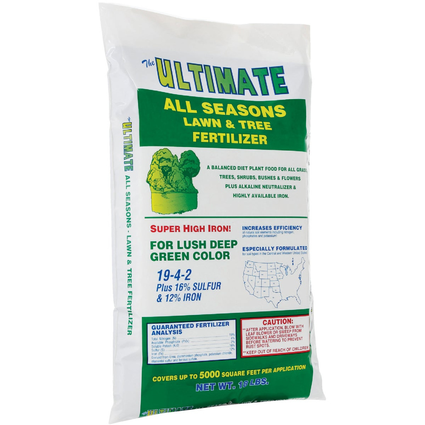 Ultimate 18 Lb. 5000 Sq. Ft. 19-4-2 All Seasons All Purpose Fertilizer Image 1