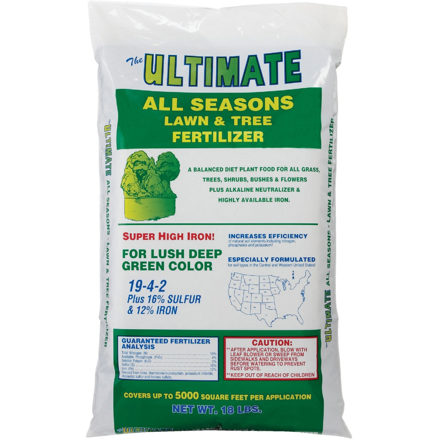 Ultimate 18 Lb. 5000 Sq. Ft. 19-4-2 All Seasons All Purpose Fertilizer Image 2