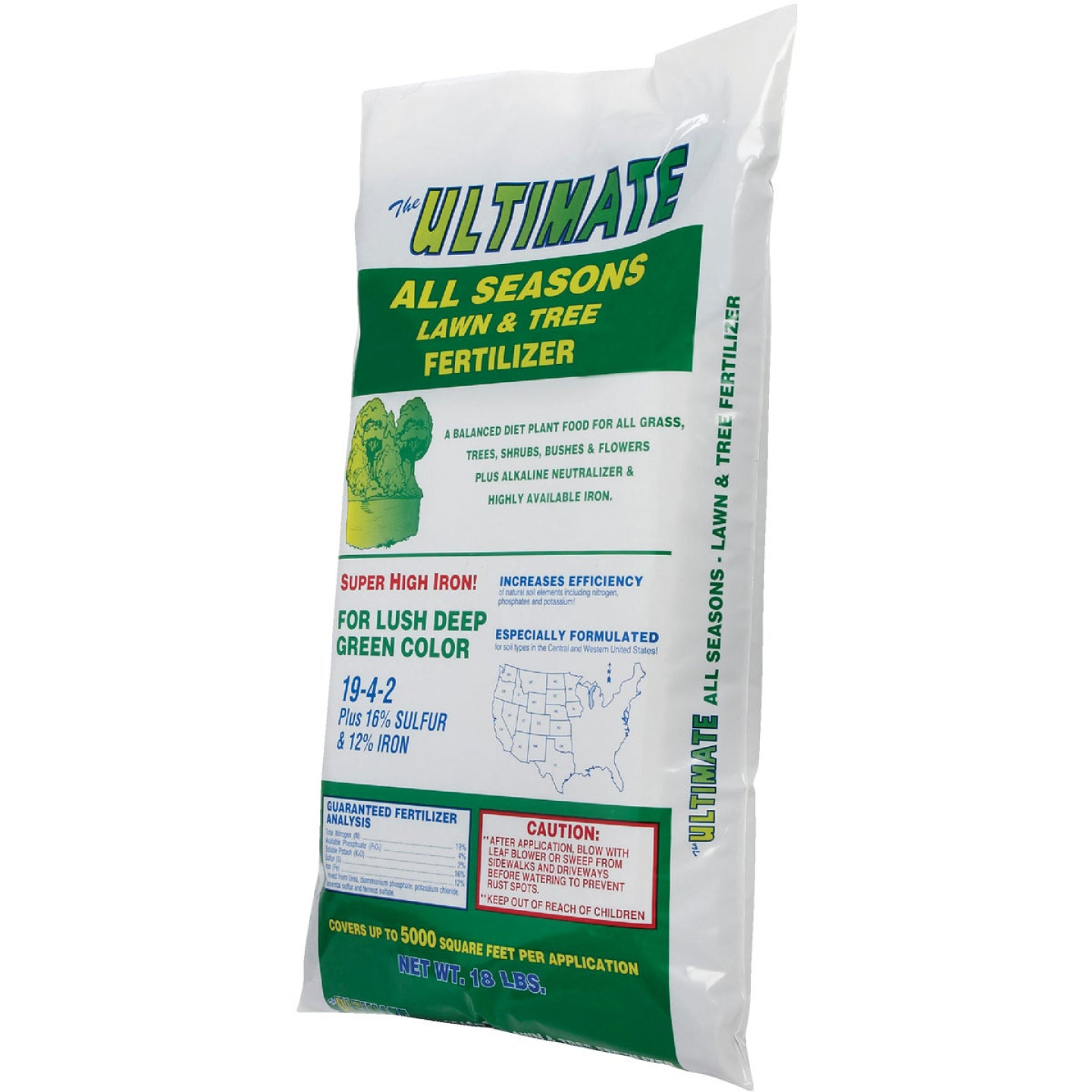 Ultimate 18 Lb. 5000 Sq. Ft. 19-4-2 All Seasons All Purpose Fertilizer Image 3