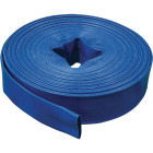 Apache 1-1/2 In. x 100 Ft. Blue Reinforced PVC Lay Flat Discharge Hose, Bulk Image 1
