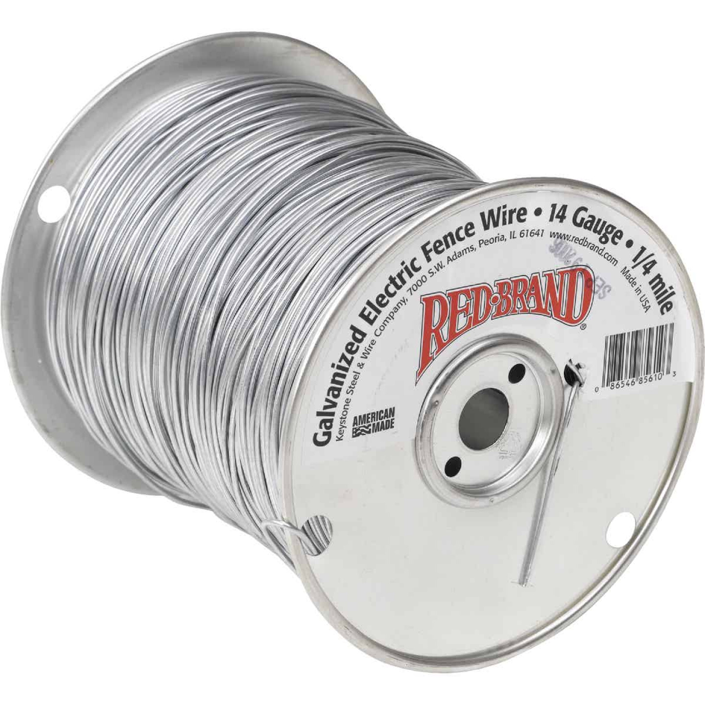 Keystone Red Brand 1/4-Mile x 14 Ga. Steel Electric Fence Wire Image 1