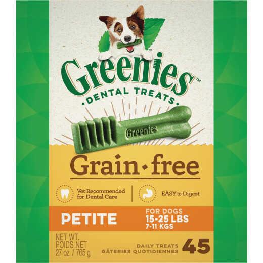 Greenies Petite Small Dog Original Flavor Grain-Free Dental Dog Treat (45-Pack)