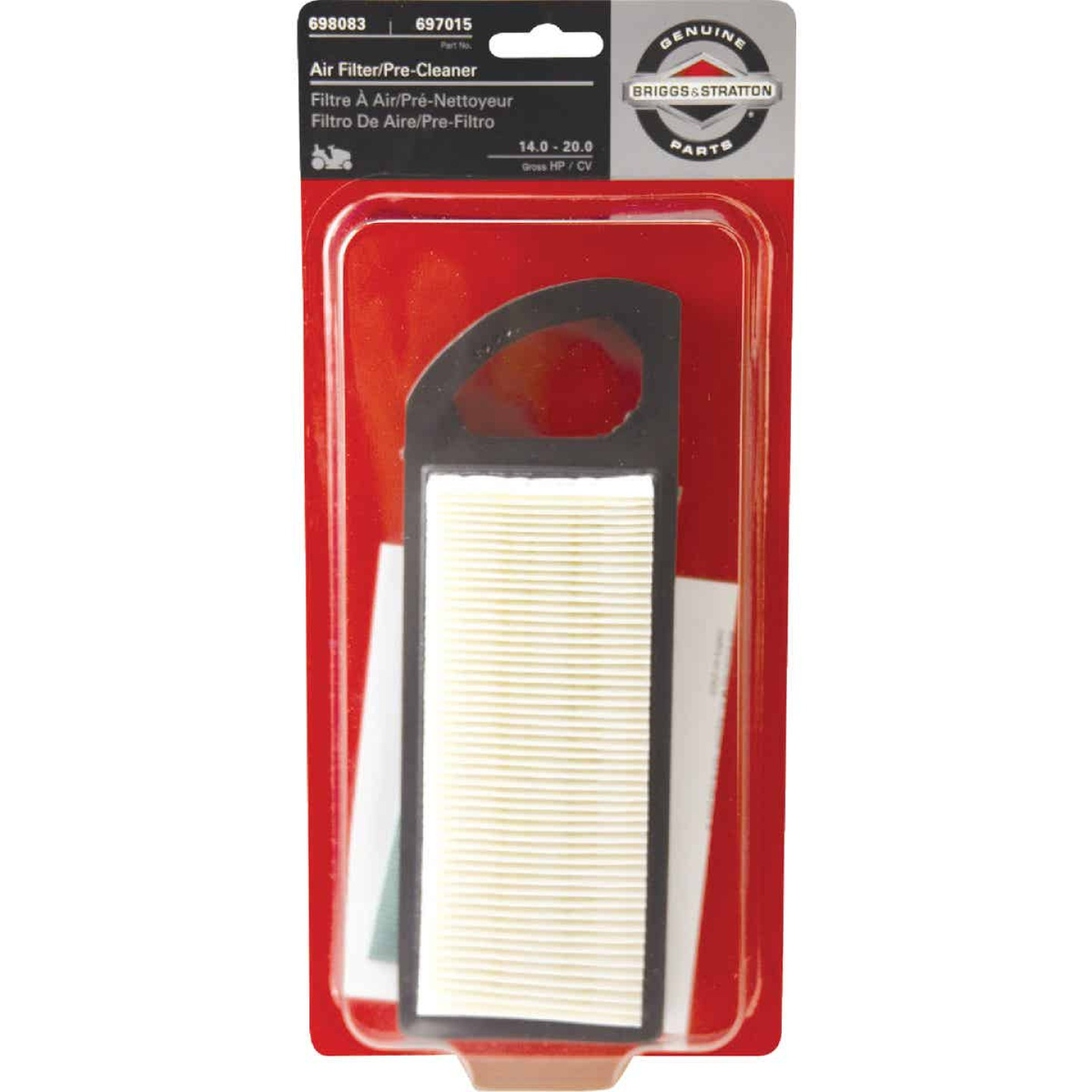 Briggs & Stratton 14 To 18 HP Paper Engine Air Filter with Pre-Cleaner Image 1