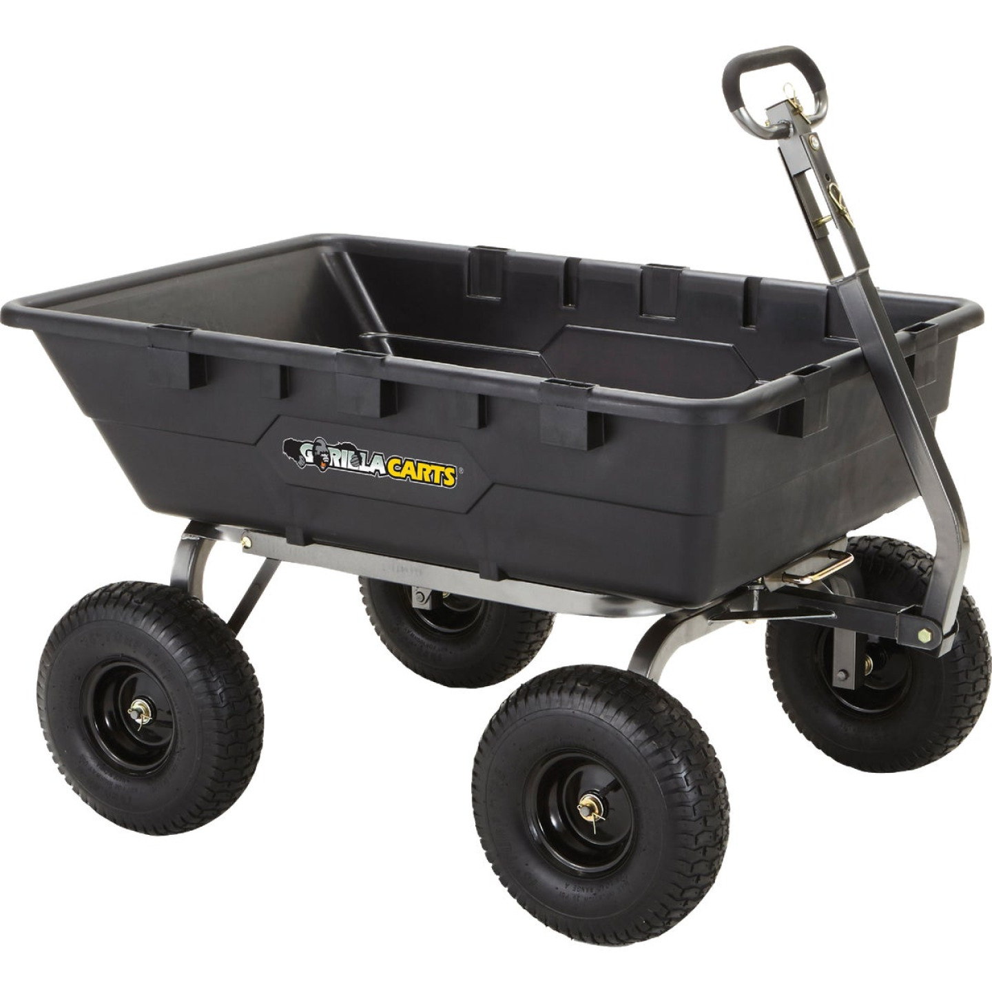 Gorilla Carts 10 Cu. Ft. 1500 Lb. Poly Tow-Behind Garden Cart Image 1