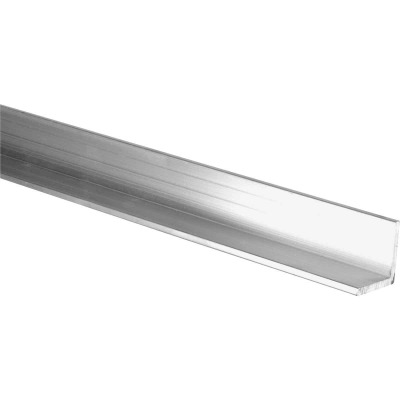 HILLMAN Steelworks Mill 1 In. x 6 Ft., 1/8 In. Aluminum Solid Angle