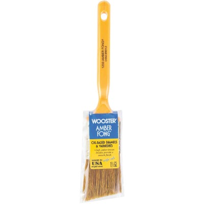 Wooster Amber Fong 1-1/2 In. Angle Sash Paint Brush