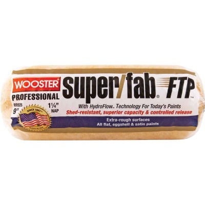 Wooster Super/Fab FTP 9 In. x 1-1/4 In. Knit Fabric Roller Cover