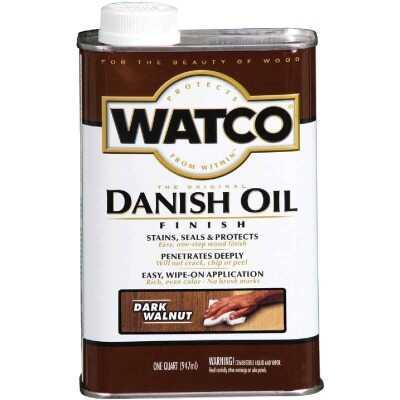 Watco Danish 1 Qt. Low VOC Dark Walnut Oil Finish