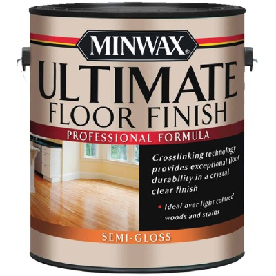 Minwax ULTIMATE 1 Gallon Semi Gloss Water-Based Polyurethane Floor Finish