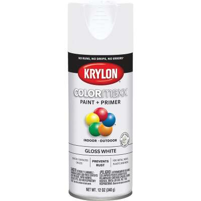 Krylon ColorMaxx 12 Oz. Gloss Spray Paint, White