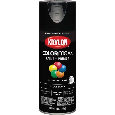 Krylon ColorMaxx12 Oz. Gloss Spray Paint, Black