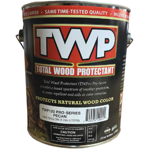 TWP100 Pro Series Semi-Transparent Wood Protectant Deck Stain, Pecan, 1 Gal.
