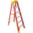 Werner 6 Ft. Fiberglass Step Ladder with 300 Lb. Load Capacity Type IA Ladder Rating Image 1