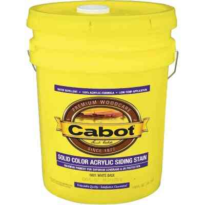 Cabot Solid Color Acrylic Siding Exterior Stain, White Base, 5 Gal.