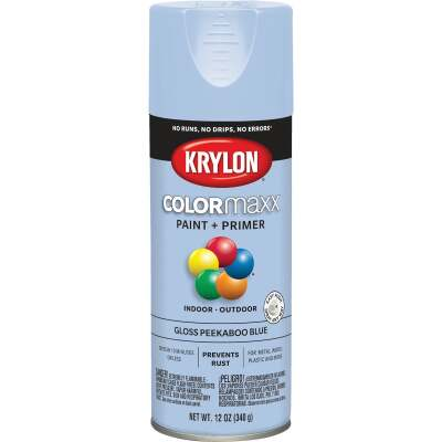 Krylon ColorMaxx 12 Oz. Gloss Spray Paint, Peekaboo Blue
