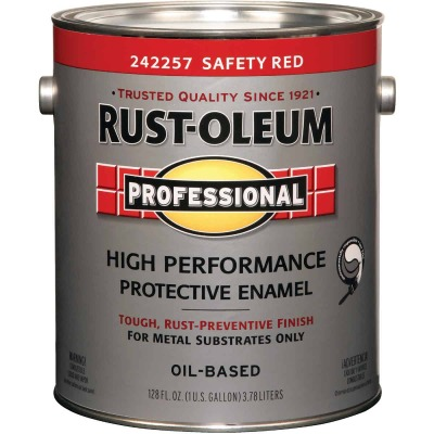 Rust-Oleum Gloss VOC for SCAQMD Professional Enamel, Safety Red, 1 Gal.