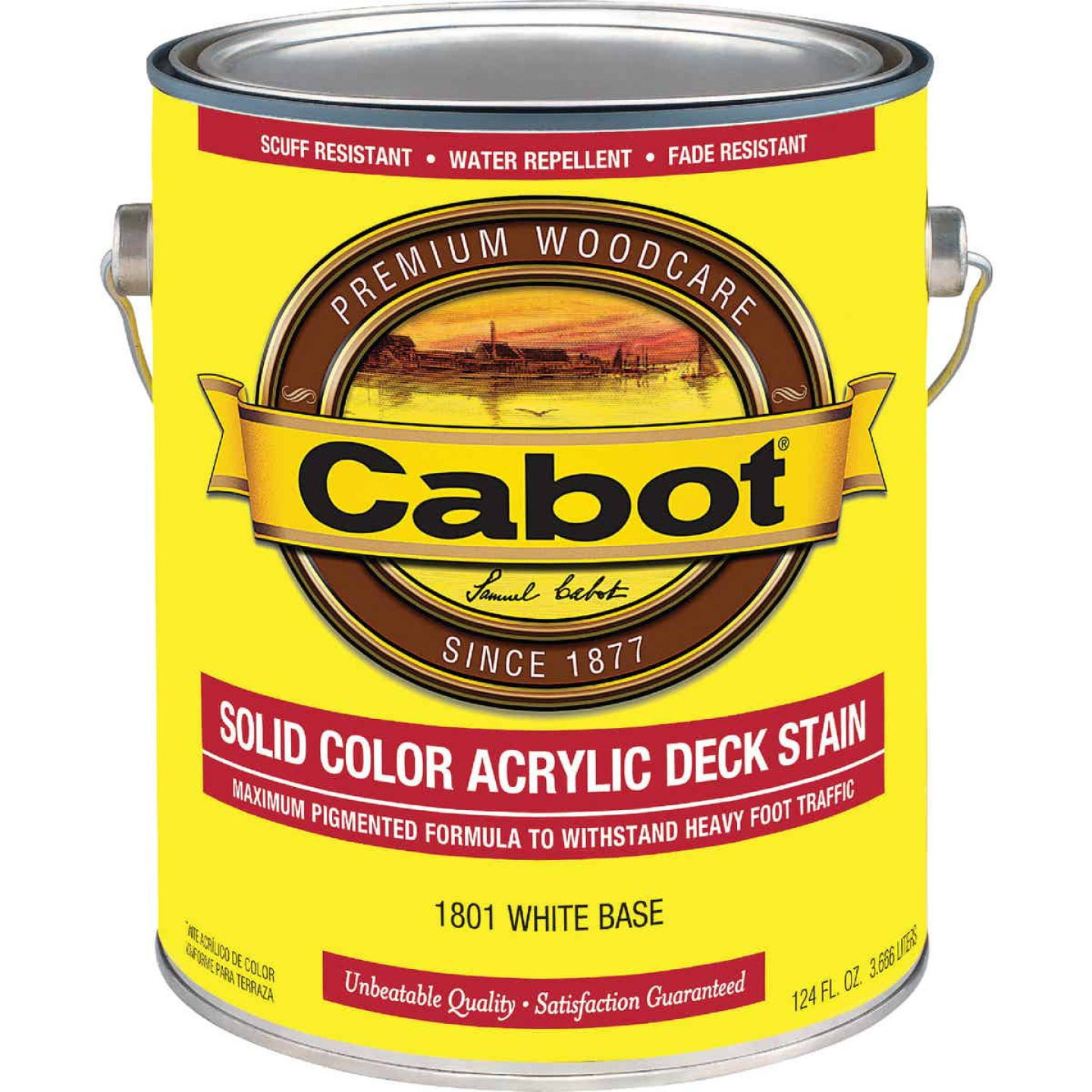 Cabot Solid Color Acrylic Deck Stain, White Base, 1 Gal. Image 1