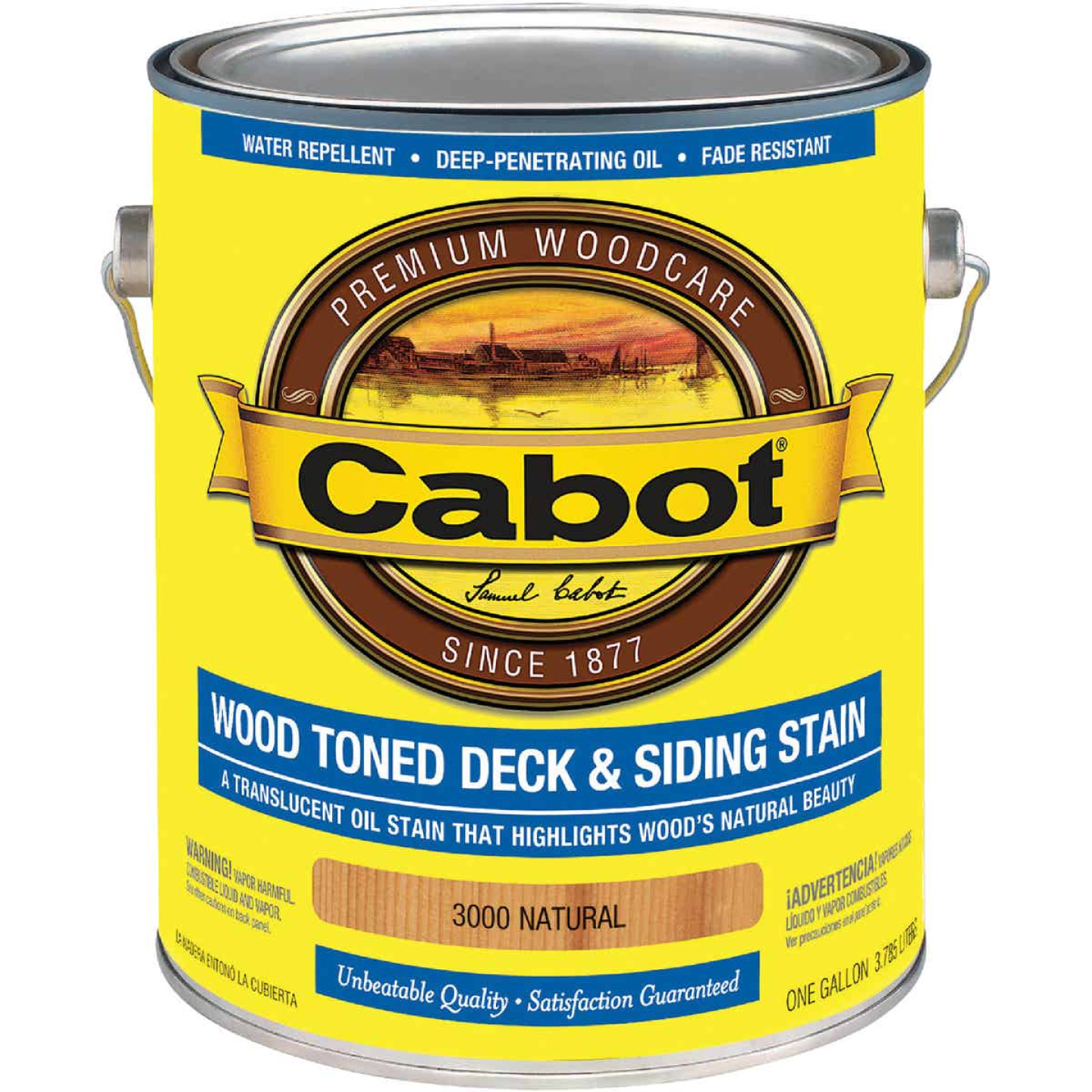 Cabot Alkyd/Oil Base Wood Toned Deck & Siding Stain, Natural, 1 Gal. Image 1