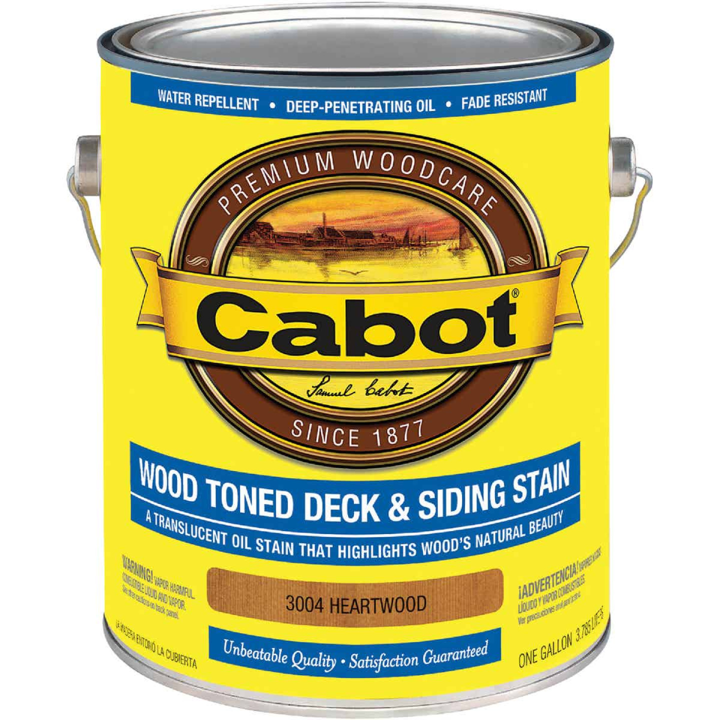 Cabot Alkyd/Oil Base Wood Toned Deck & Siding Stain, Heartwood, 1 Gal. Image 1