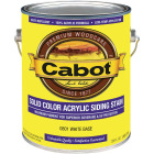 Cabot Solid Color Acrylic Siding Exterior Stain, White Base, 1 Gal. Image 1