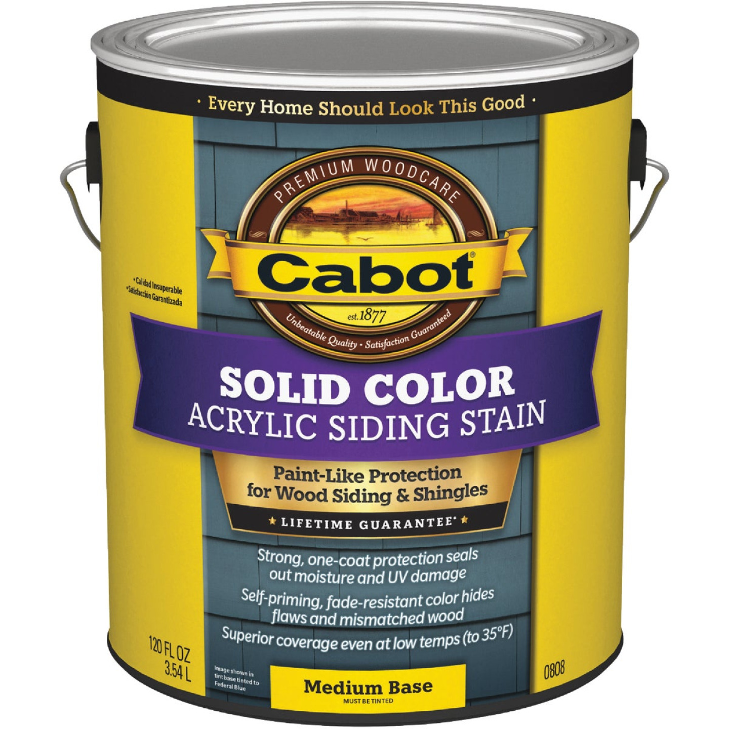 Cabot Solid Color Acrylic Siding Exterior Stain, Medium Base, 1 Gal. Image 1