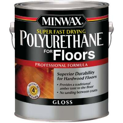 Minwax Gloss Super Fast-Drying Polyurethane For Floors, 1 Gal.