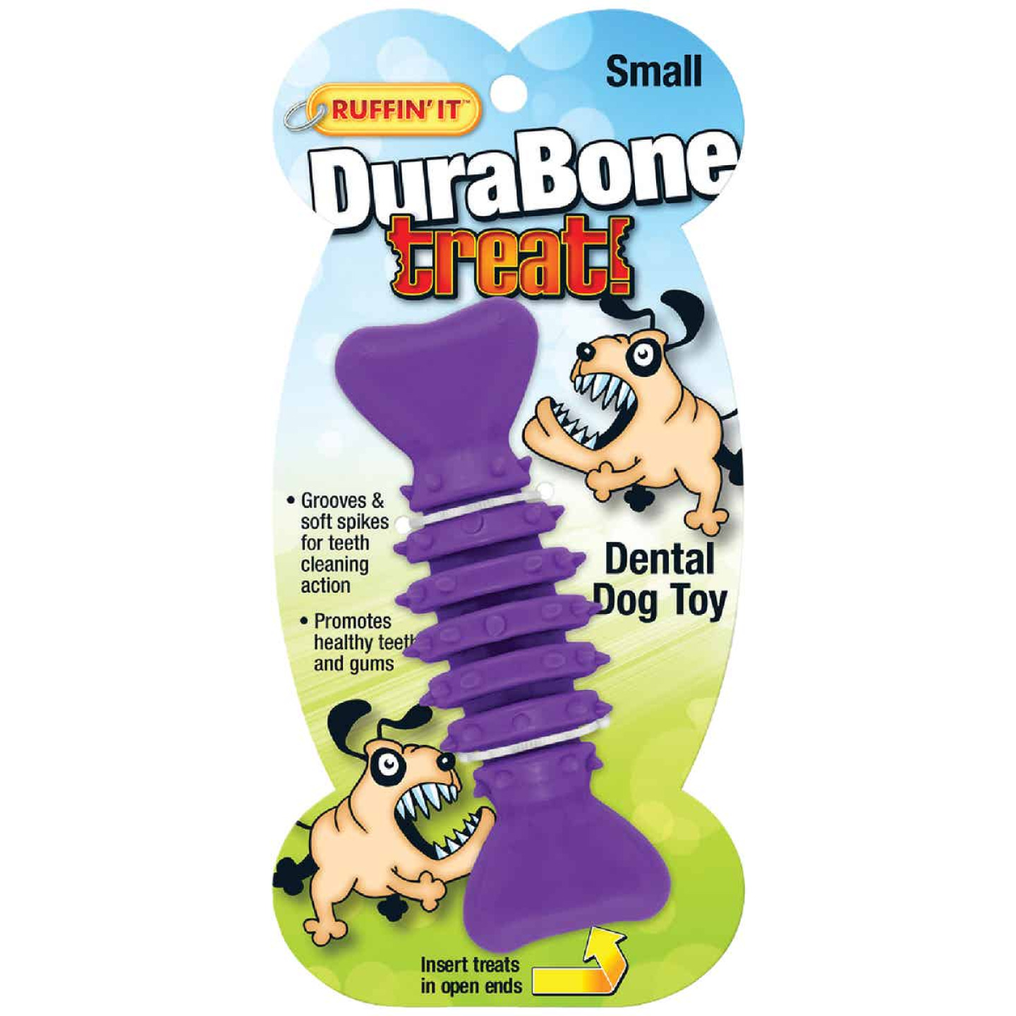 Westminster Pet Ruffin' it Durabone 4.75 In. Chew Dental Dog Toy Image 3