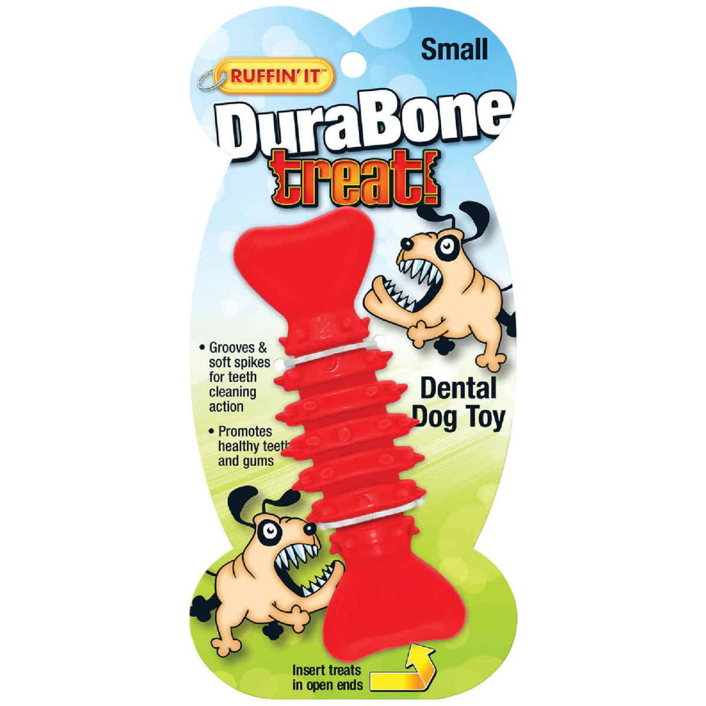 Westminster Pet Ruffin' it Durabone 4.75 In. Chew Dental Dog Toy Image 2