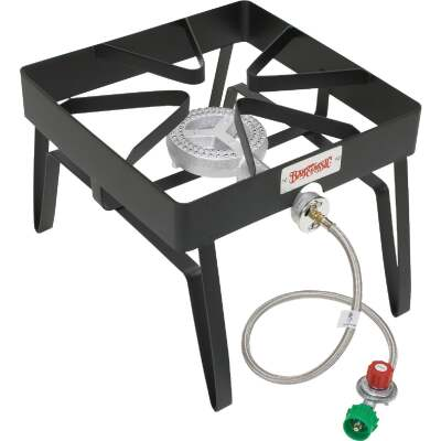 Bayou Classic 55,000 BTU Propane Gas Single Burner Patio Stove Steel Outdoor Cooker