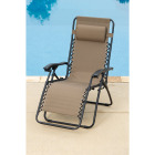 Outdoor Expressions Zero Gravity Relaxer Tan Convertible Lounge Chair Image 6