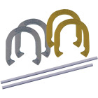 Franklin 24 In. Steel Official Size Family Horseshoe Set Image 1